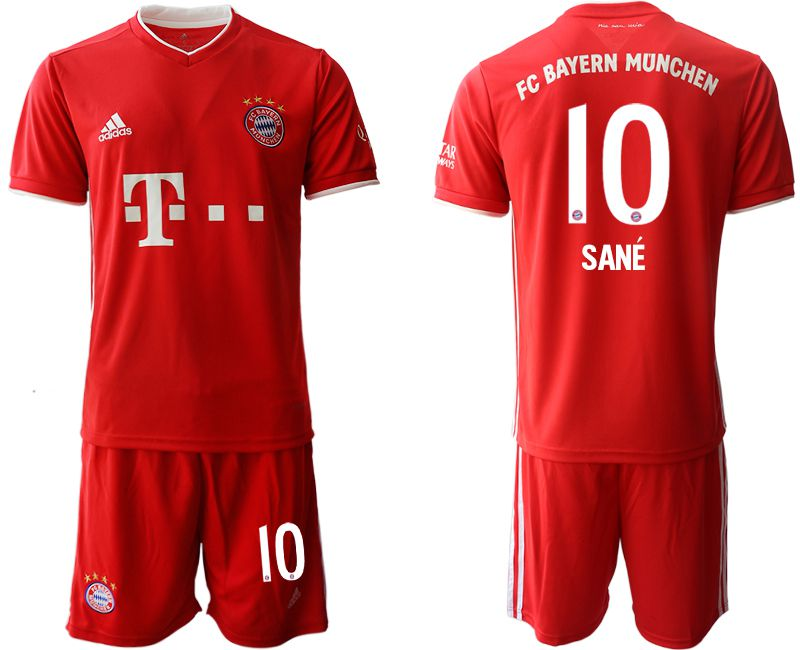Wholesale Men 2020-2021 club Bayern Munich home 10 red Soccer Jerseys1