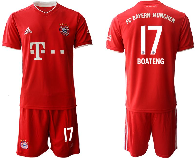 Wholesale Men 2020-2021 club Bayern Munich home 17 red Soccer Jerseys
