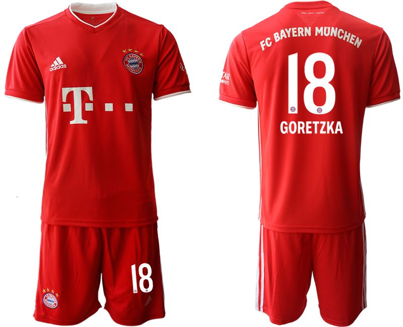 Wholesale Men 2020-2021 club Bayern Munich home 18 red Soccer Jerseys