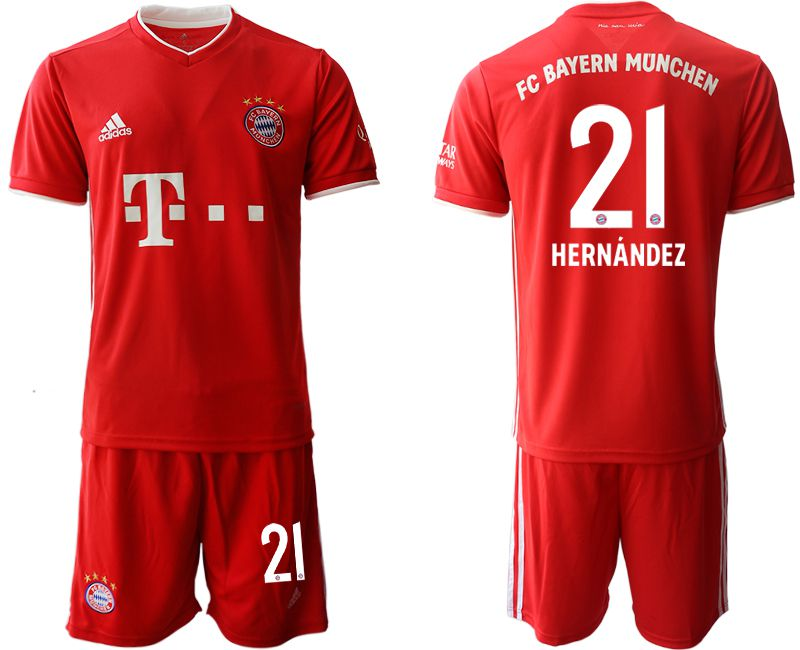Wholesale Men 2020-2021 club Bayern Munich home 21 red Soccer Jerseys