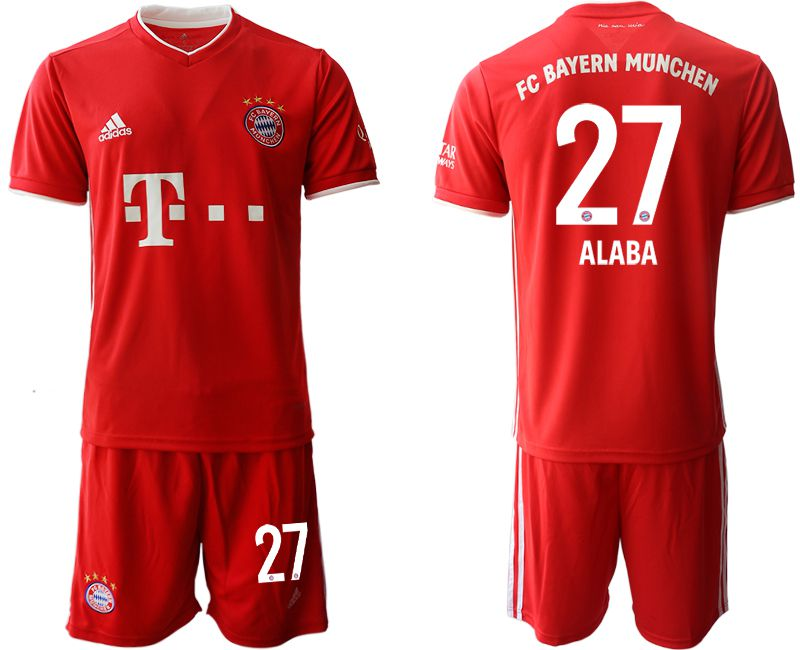Cheap Men 2020-2021 club Bayern Munich home 27 red Soccer Jerseys
