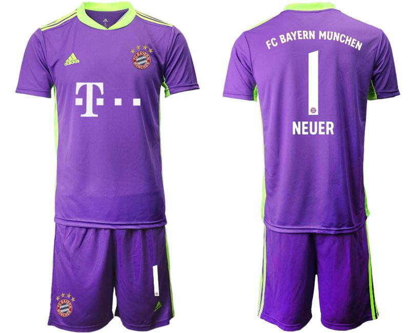 Cheap Men 2020-2021 club Bayern Munich purple goalkeeper 1 Soccer Jerseys