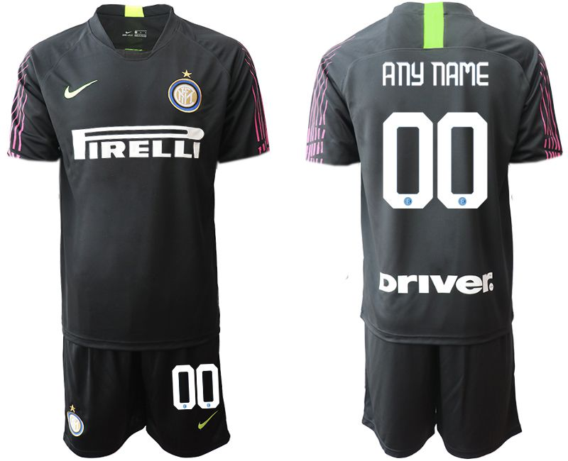Cheap Men 2020-2021 club Inter Milan black goalkeeper customized Soccer Jerseys