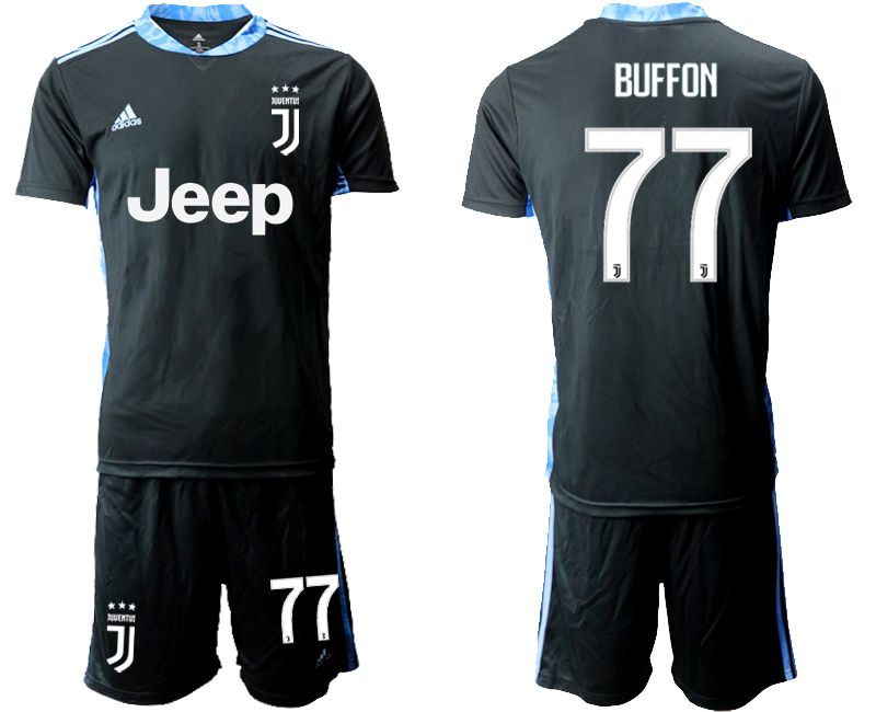 Men 2020-2021 club Juventus black goalkeeper 77 Soccer Jerseys