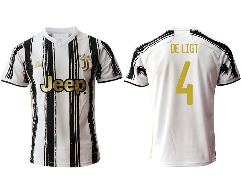 Wholesale Men 2020-2021 club Juventus home aaa version 4 white Soccer Jerseys