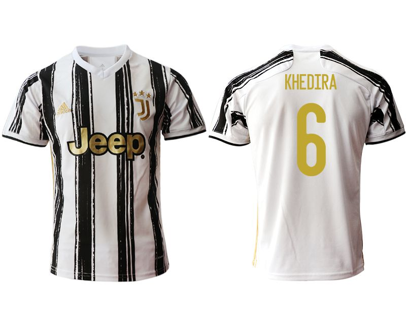Wholesale Men 2020-2021 club Juventus home aaa version 6 white Soccer Jerseys