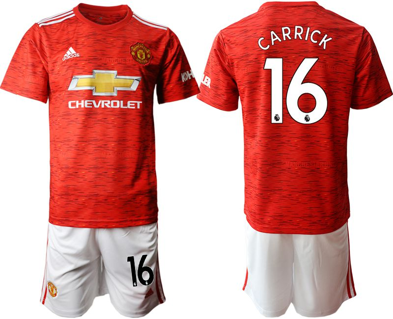 Wholesale Men 2020-2021 club Manchester United home 16 red Soccer Jerseys