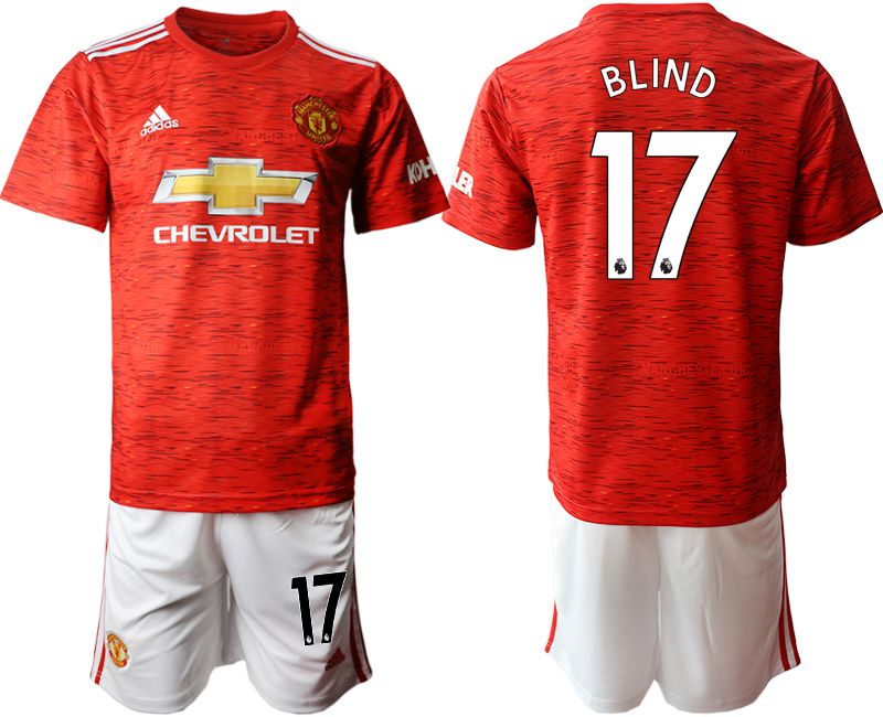 Wholesale Men 2020-2021 club Manchester United home 17 red Soccer Jerseys