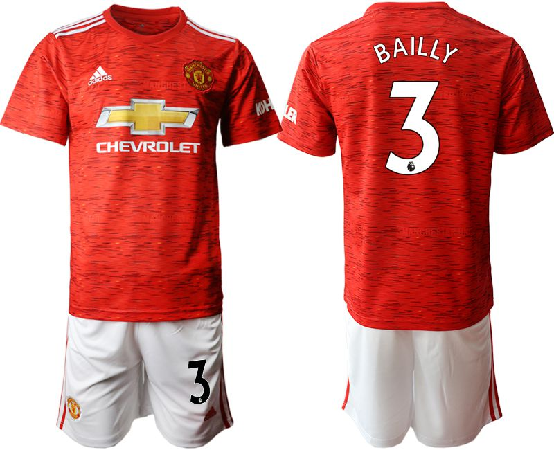 Wholesale Men 2020-2021 club Manchester United home 3 red Soccer Jerseys