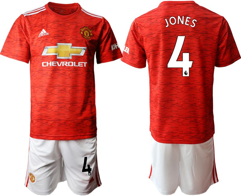 Wholesale Men 2020-2021 club Manchester United home 4 red Soccer Jerseys