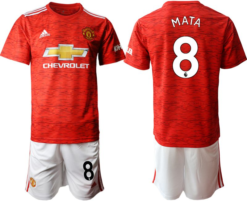 Wholesale Men 2020-2021 club Manchester United home 8 red Soccer Jerseys