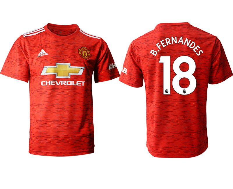 Cheap Men 2020-2021 club Manchester United home aaa version 18 red Soccer Jerseys