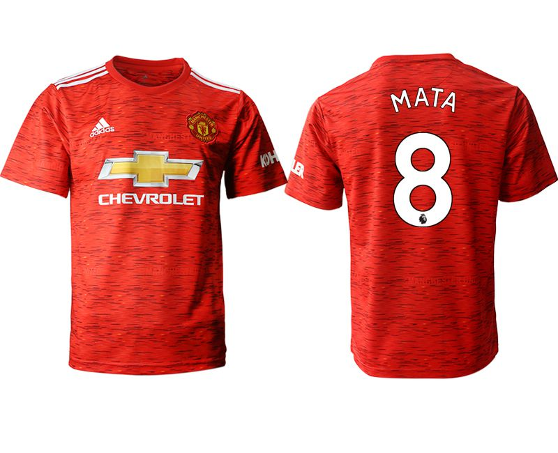 Cheap Men 2020-2021 club Manchester United home aaa version 8 red Soccer Jerseys