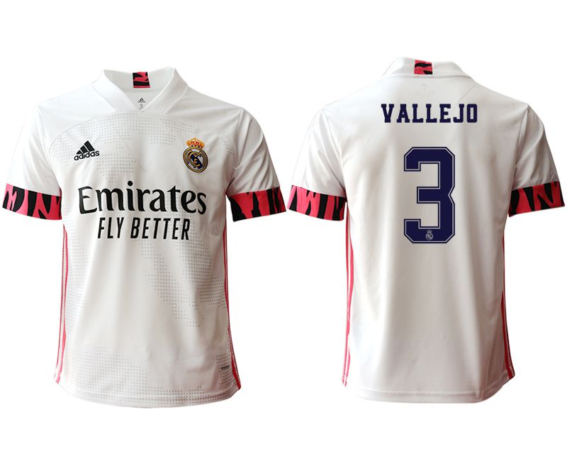 Cheap Men 2020-2021 club Real Madrid home aaa version 3 white Soccer Jerseys