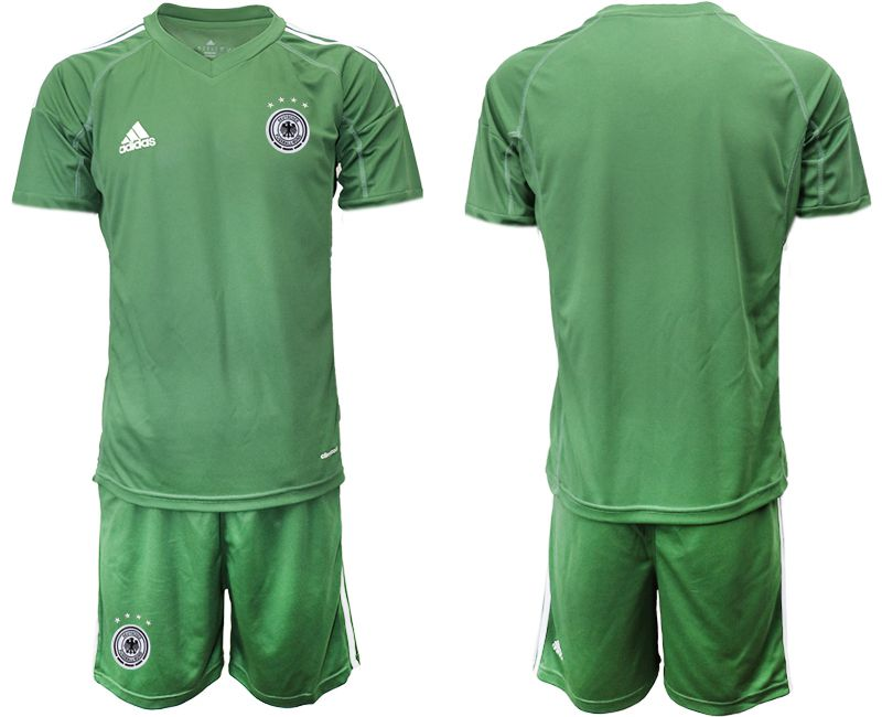 Cheap Men 2021 World Cup National Germany army green goalkeeper Soccer Jerseys