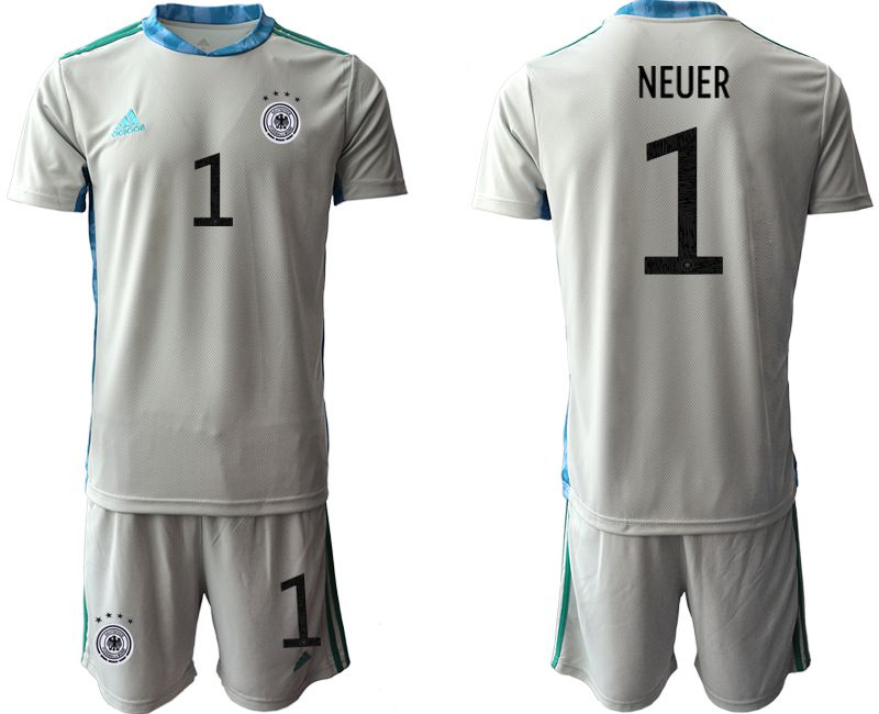 Men 2021 World Cup National Germany gray goalkeeper 1 Soccer Jerseys