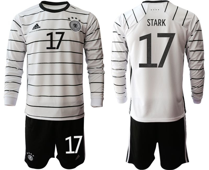 Wholesale Men 2021 World Cup National Germany home long sleeve 17 white Soccer Jerseys