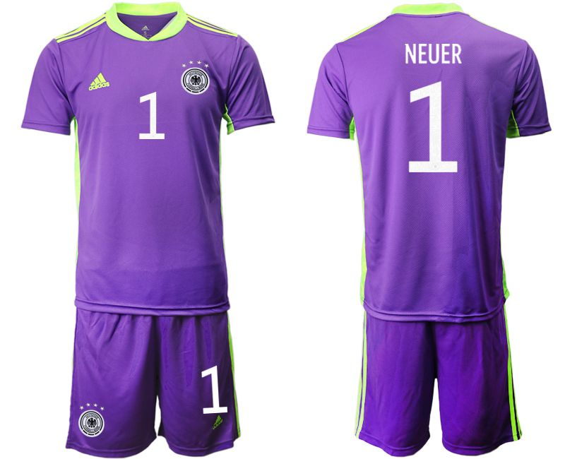 Wholesale Men 2021 World Cup National Germany purple goalkeeper 1 Soccer Jerseys