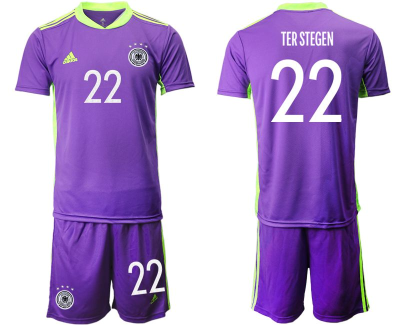 Wholesale Men 2021 World Cup National Germany purple goalkeeper 22 Soccer Jerseys