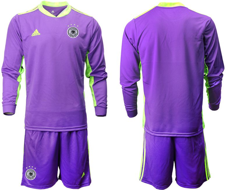 Wholesale Men 2021 World Cup National Germany purple long sleeved Goalkeeper Soccer Jerseys