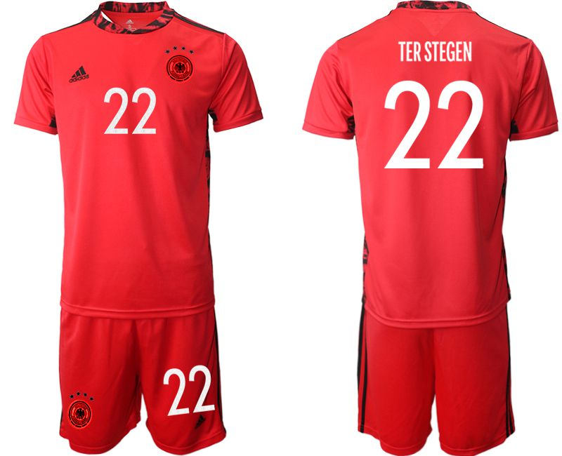 Wholesale Men 2021 World Cup National Germany red goalkeeper 22 Soccer Jerseys