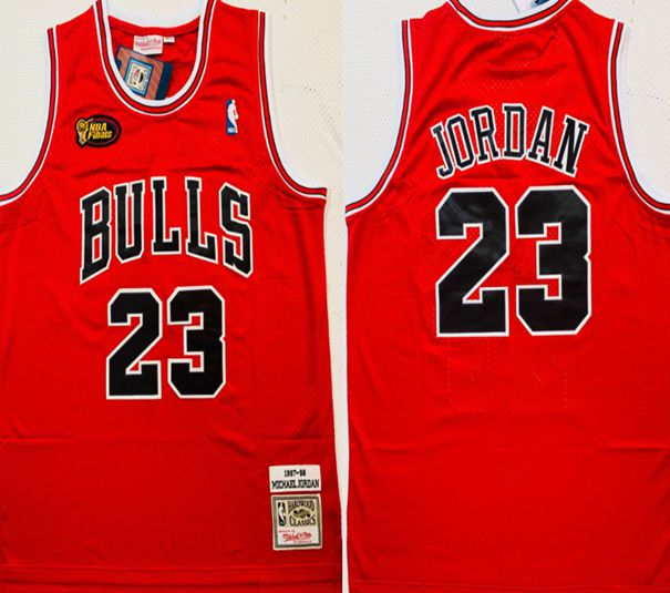 Cheap Men Chicago Bulls 23 Jordan Red Best final 1997-98 NBA Jerseys