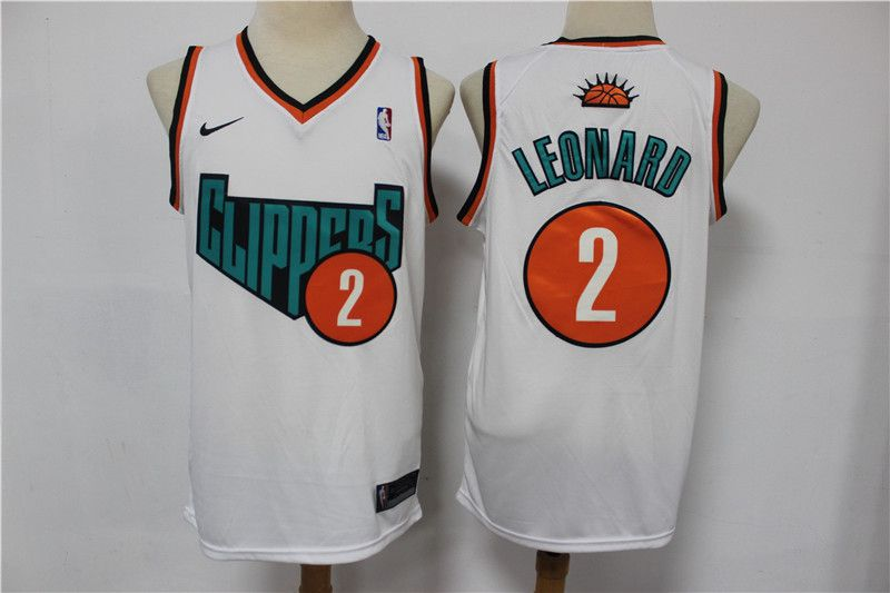 Wholesale Men Los Angeles Clippers 2 Leonard White Home kit Nike NBA Jerseys