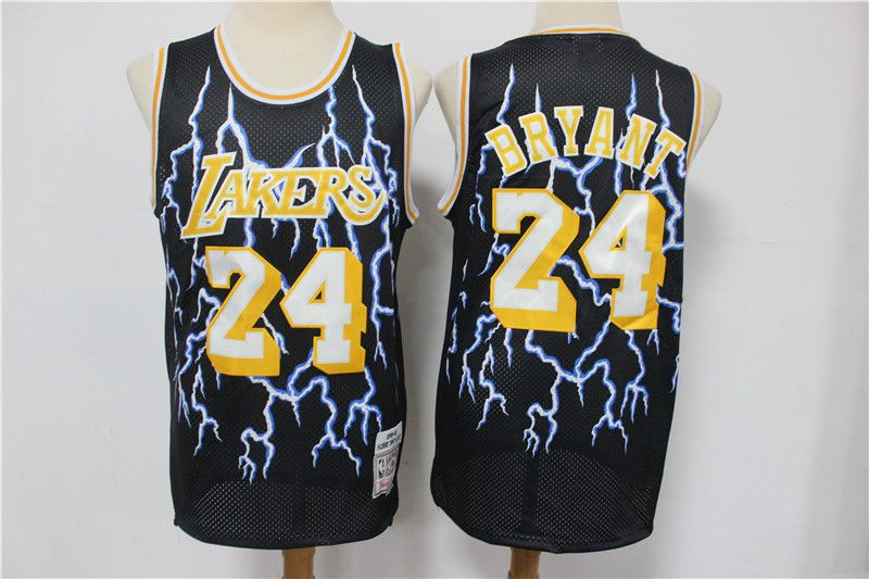Wholesale Men Los Angeles Lakers 24 Bryant Black Retro flash Limited Edition NBA Jerseys