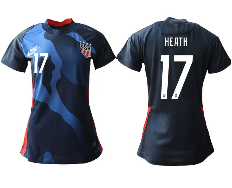 Wholesale Women 2020-2021 Season National Team America away aaa 17 blue Soccer Jerseys