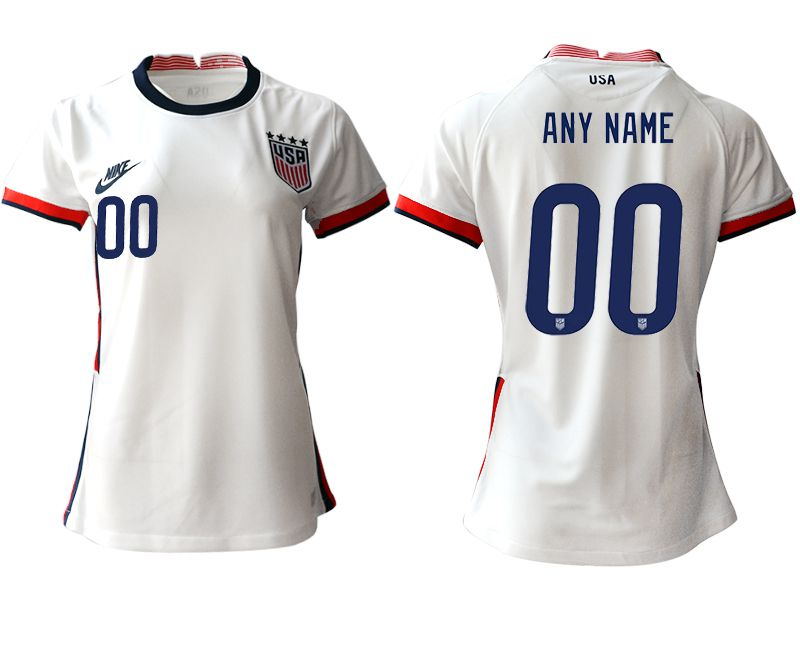 Cheap Women 2020-2021 Season National Team America home aaa customized white Soccer Jerseys