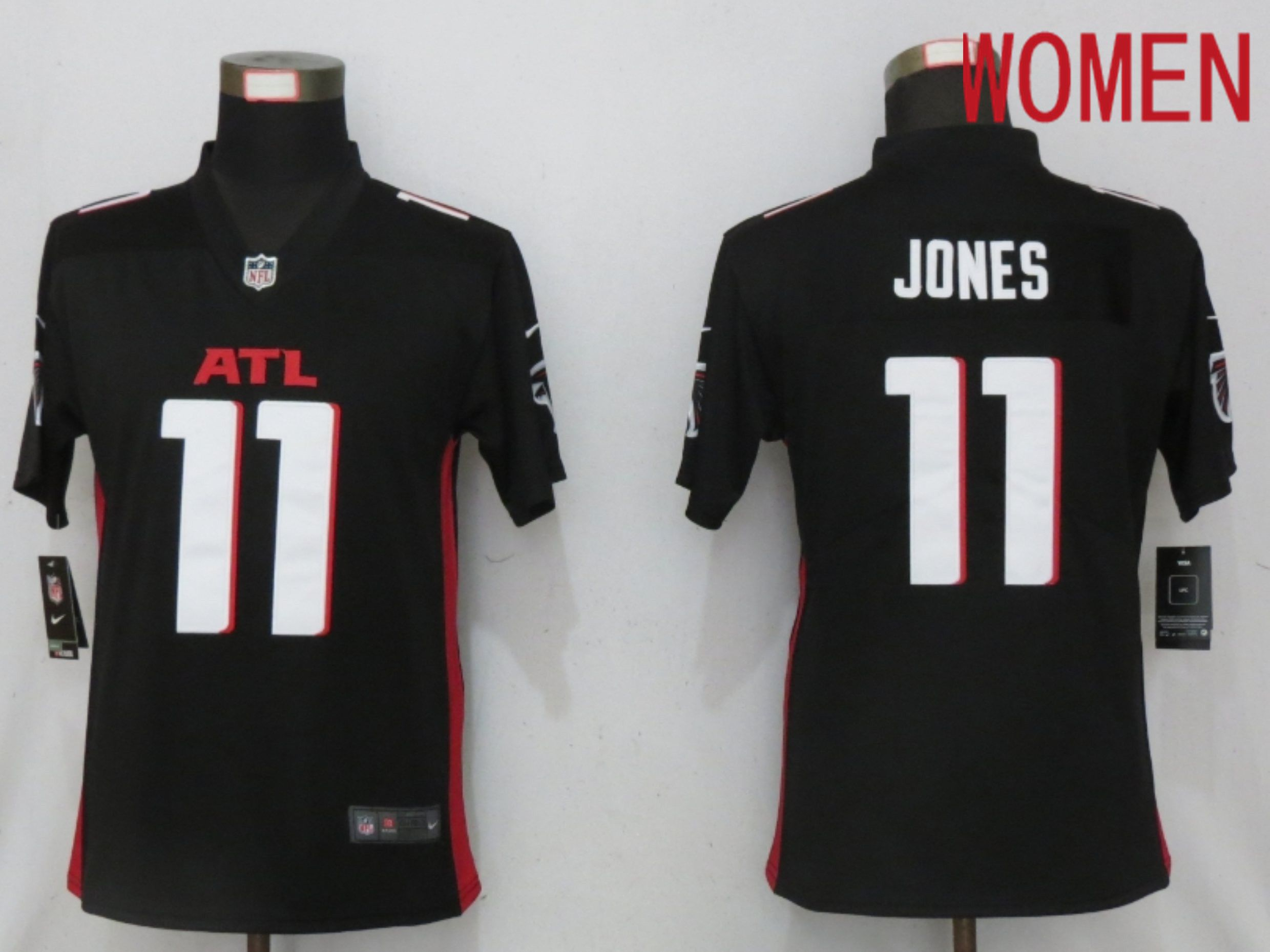 Cheap Women Atlanta Falcons 11 Jones Black Elite Playe Nike NFL Jersey