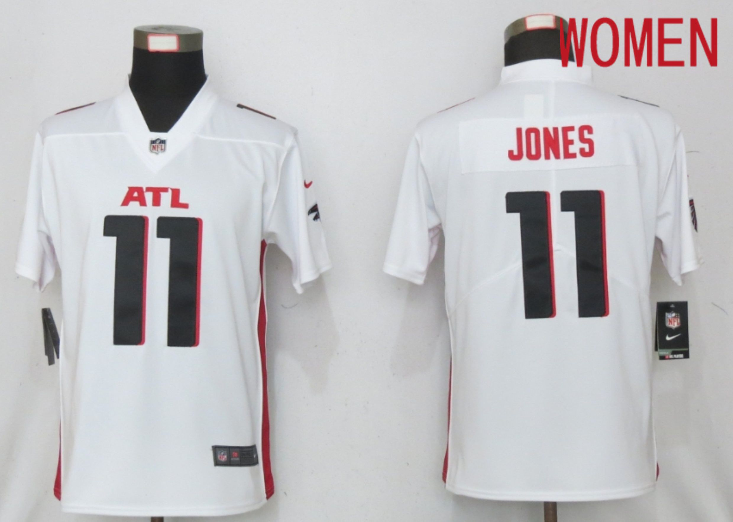 Cheap Women Atlanta Falcons 11 Jones White Elite Playe Nike NFL Jersey