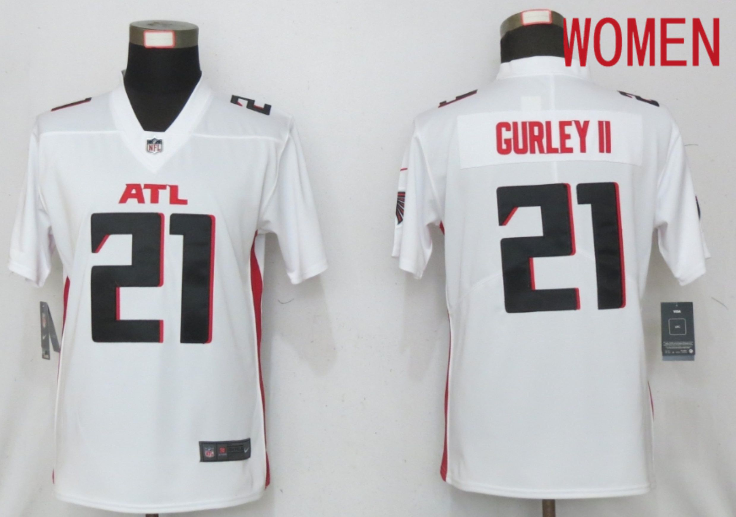 Cheap Women Atlanta Falcons 21 Gurley II White Elite Playe Nike NFL Jersey