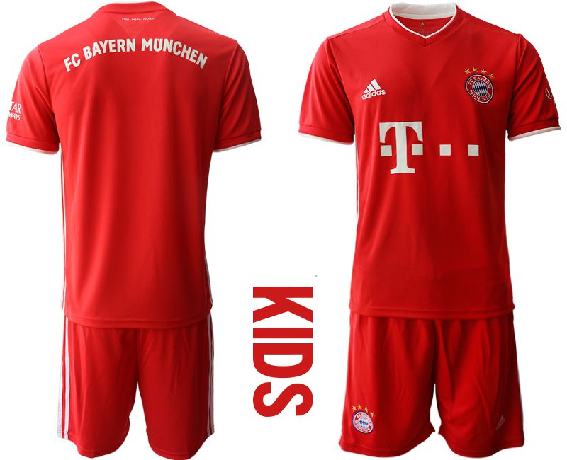 Cheap Youth 2020-2021 club Bayern Munich home red Soccer Jerseys