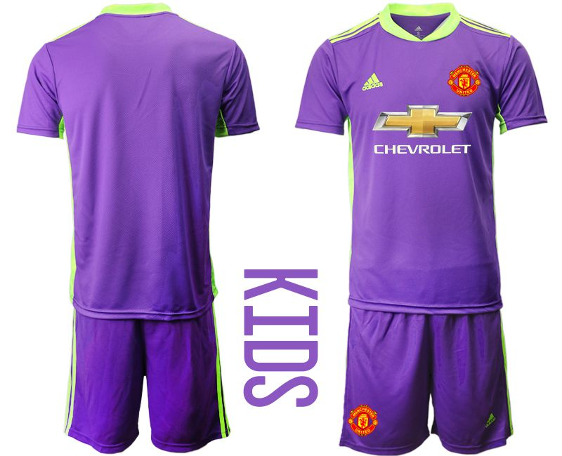 Youth 2020-2021 club Manchester United Russia purple goalkeeper Soccer Jerseys