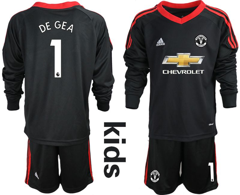 Youth 2020-2021 club Manchester United black long sleeve goalkeeper 1 Soccer Jerseys1