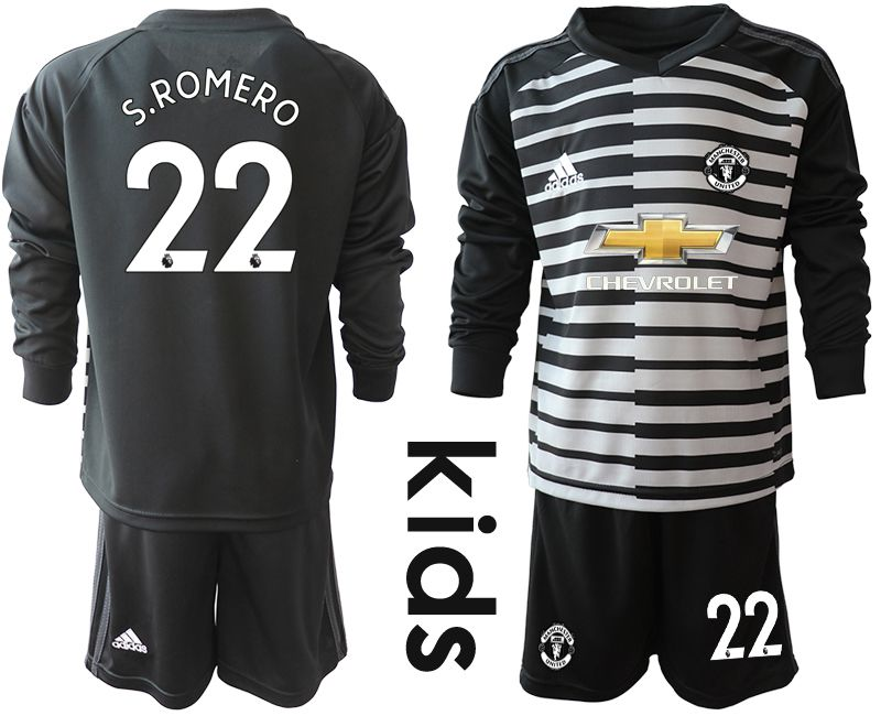 Youth 2020-2021 club Manchester United black long sleeve goalkeeper 22 Soccer Jerseys1