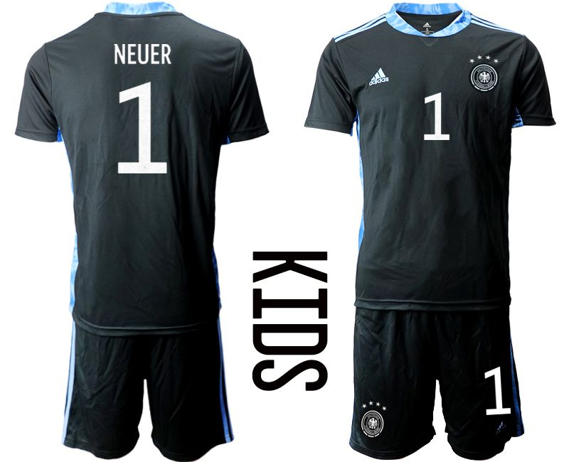 Wholesale Youth 2021 World Cup National Germany black goalkeeper 1 Soccer Jerseys