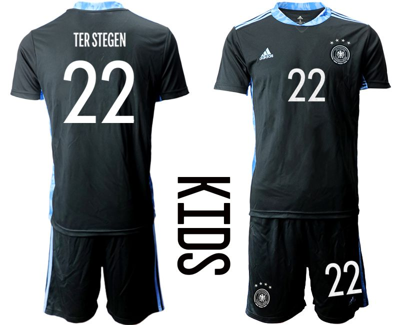 Wholesale Youth 2021 World Cup National Germany black goalkeeper 22 Soccer Jerseys