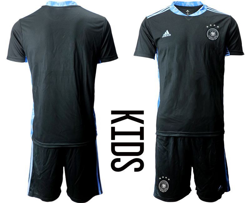 Wholesale Youth 2021 World Cup National Germany black goalkeeper Soccer Jerseys