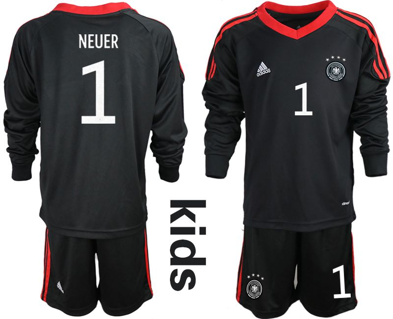 Wholesale Youth 2021 World Cup National Germany black long sleeve goalkeeper 1 Soccer Jerseys1