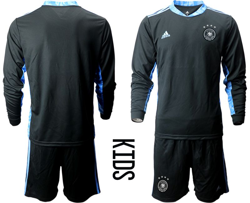 Wholesale Youth 2021 World Cup National Germany black long sleeve goalkeeper Soccer Jerseys