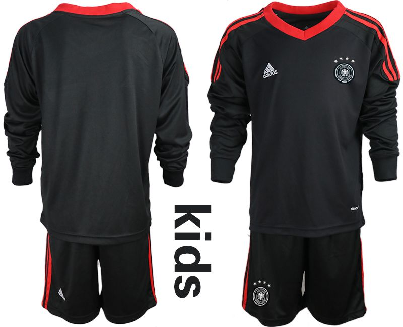 Wholesale Youth 2021 World Cup National Germany black long sleeve goalkeeper Soccer Jerseys1
