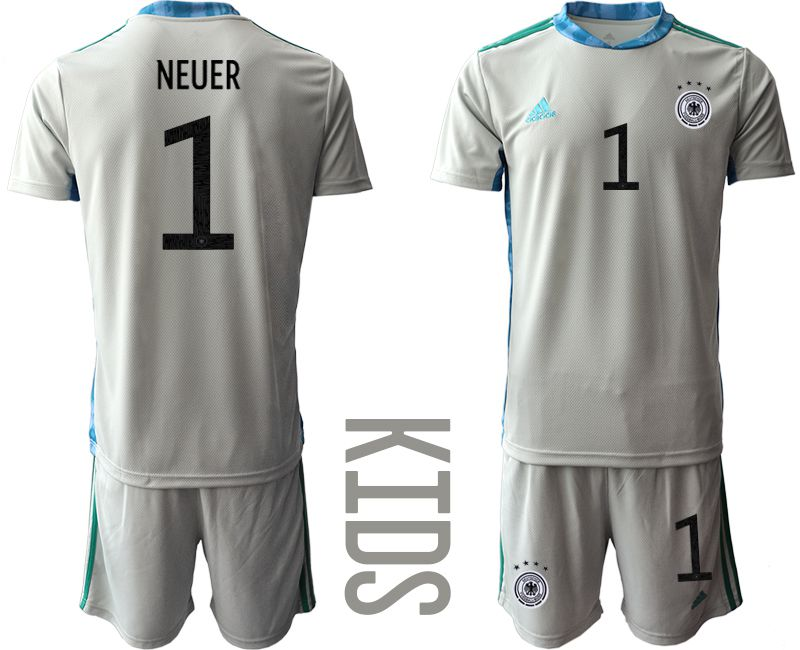 Wholesale Youth 2021 World Cup National Germany gray goalkeeper 1 Soccer Jerseys