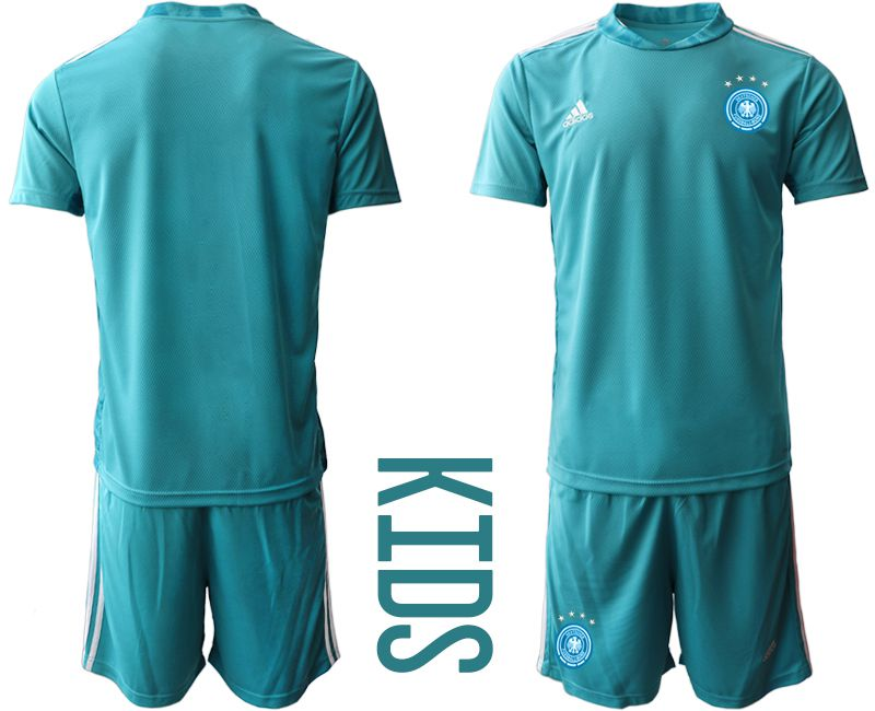 Wholesale Youth 2021 World Cup National Germany lake blue goalkeeper Soccer Jerseys