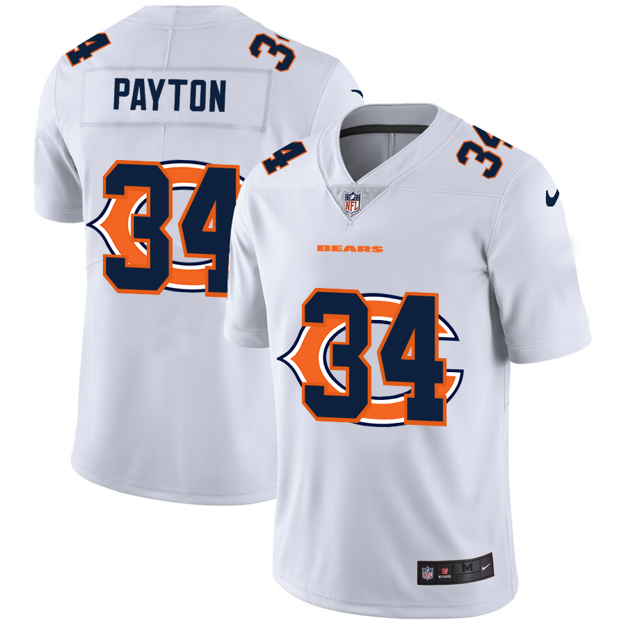 Cheap 2020 New Men Chicago Bears 34 Payton white Limited NFL Nike jerseys
