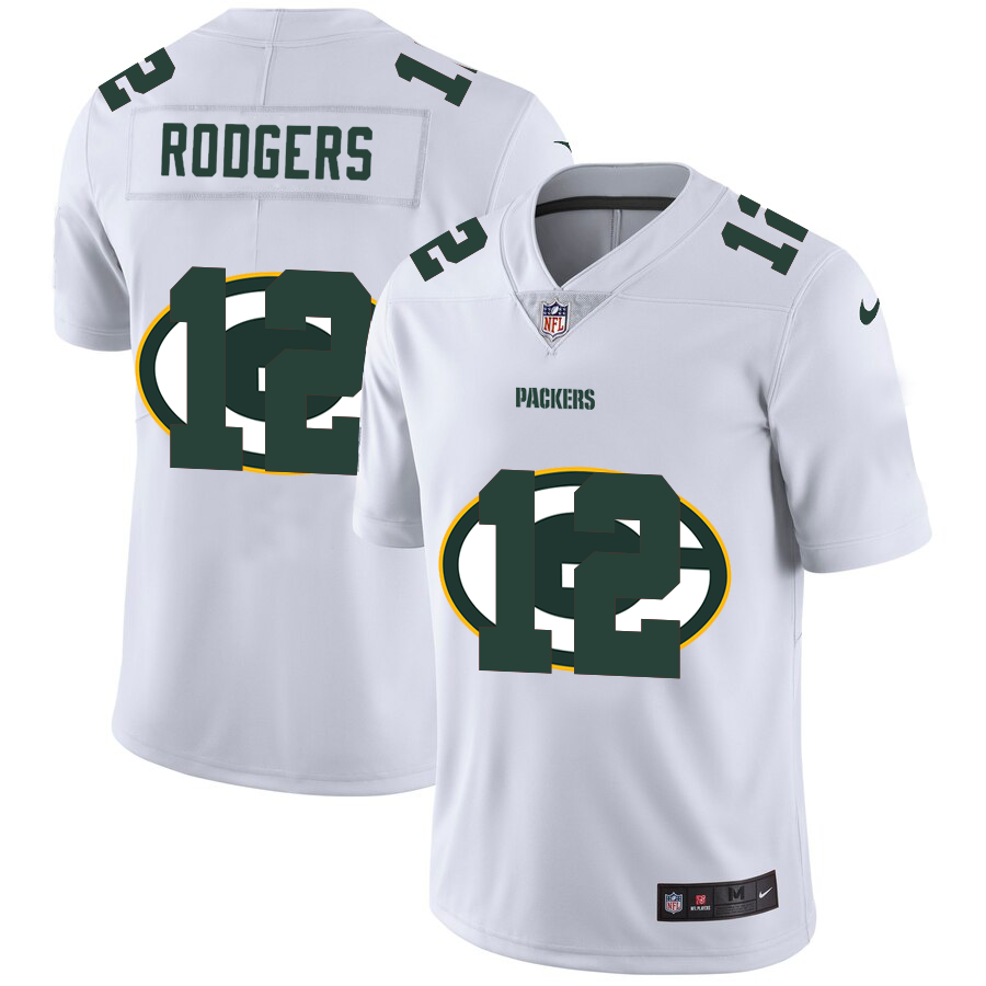 Cheap 2020 New Men Green Bay Packers 12 Rodgers White Limited NFL Nike jerseys