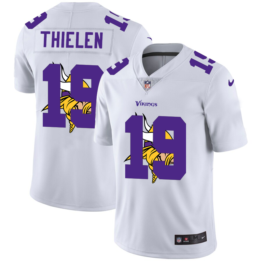 Cheap 2020 New Men Minnesota Vikings 19 Thielen white Limited NFL Nike jerseys