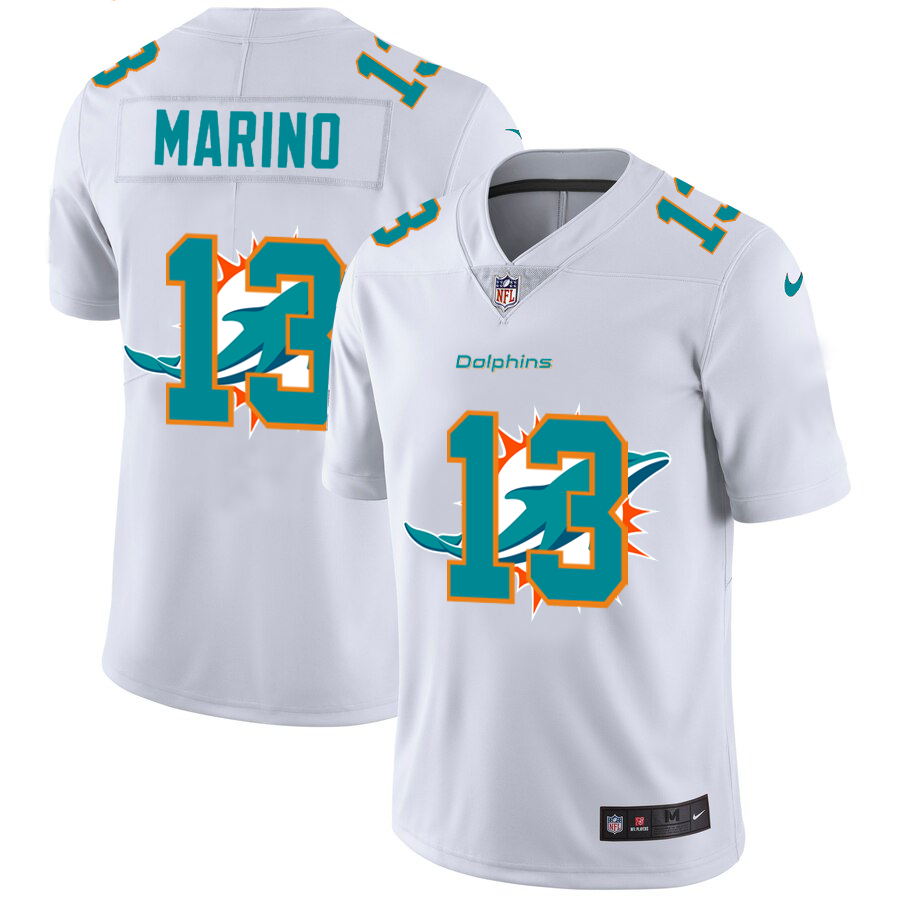 Cheap 2020 New Men New Nike Miami Dolphins 13 Marino White Limited NFL Nike jerseys