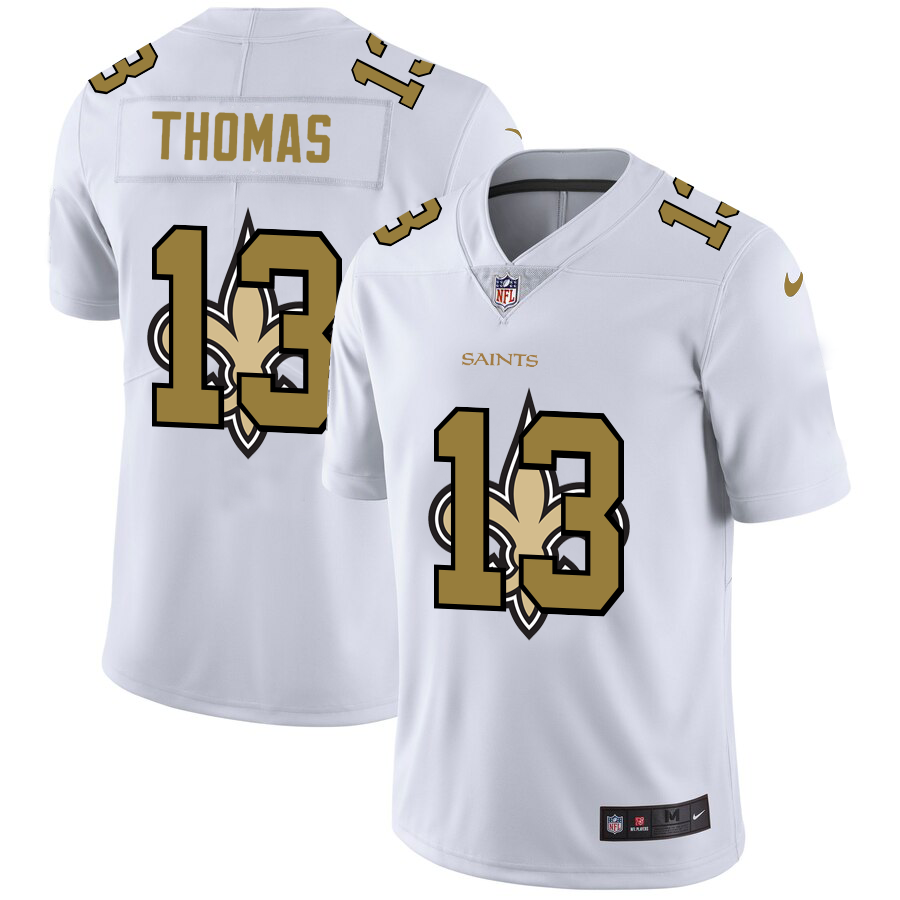 Cheap 2020 New Men New Orleans Saints 13 Thomas white Limited NFL Nike jerseys